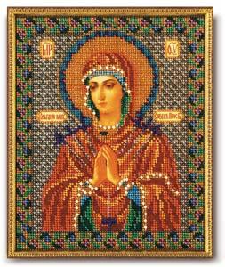 """Набор для вышивания """"Икона Богородица Умягчение злых сердец (Семистрельная)"""" Кроше В-154 (бисер)"""