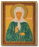 """Набор для вышивания """"Икона Св. Матрона Московская"""" Кроше В-155 (бисер)"""