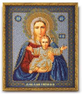 """Набор для вышивания """"Икона Богородица Леушинская"""" Кроше В-156 (бисер)"""