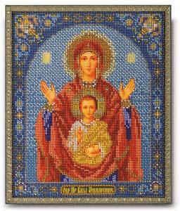 """Набор для вышивания """"Икона Богородица Знамение"""" Кроше В-157 (бисер)"""