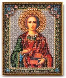 """Набор для вышивания """"Икона Св. В. М. и Целитель Пантелеимон"""" Кроше В-159 (бисер)"""
