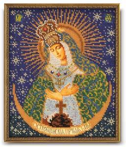 """Набор для вышивания """"Икона Остробрамская Богородица"""" Кроше В-161 (бисер)"""