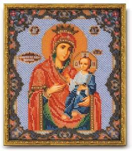 """Набор для вышивания """"Икона Иверская Богородица"""" Кроше В-162 (бисер)"""
