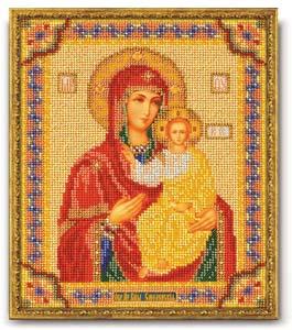 """Набор для вышивания """"Икона Смоленская Богородица"""" Кроше В-163 (бисер)"""