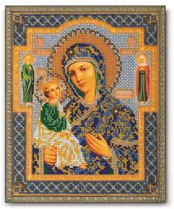 """Набор для вышивания """"Икона Богородица Иерусалимская"""" Кроше В-164 (бисер)"""