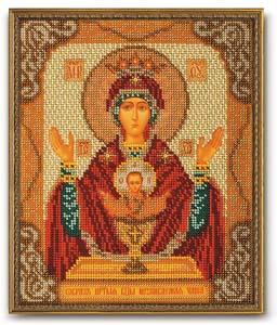 """Набор для вышивания """"Икона Богородица Неупиваемая Чаша"""" Кроше В-165 (бисер)"""