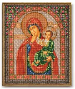 """Набор для вышивания """"Икона Богородица Отрада и Утешение"""" Кроше В-166 (бисер)"""