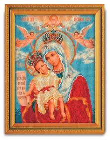 """Набор для вышивания """"Икона Богородица Милующая (Достойно Есть)"""" Кроше В-168 (бисер)"""