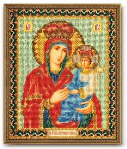 """Набор для вышивания """"Икона Богородица Споручница грешных"""" Кроше В-169 (бисер)"""