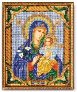 """Набор для вышивания """"Икона Богородица Неувядаемый Цвет"""" Кроше В-171 (бисер)"""