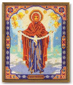 """Набор для вышивания """"Икона Богородица Покрова"""" Кроше В-174 (бисер)"""