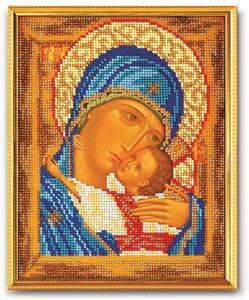 """Набор для вышивания """"Икона Богородица Умиление"""" Кроше В-181 (бисер)"""