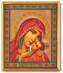 """Набор для вышивания """"Икона Богородица Касперовская"""" Кроше В-183 (бисер)"""