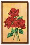 """""""Красное трио"""" (розы) Кроше В-225 (бисер)"""