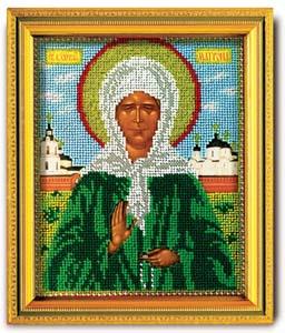 """Набор для вышивания """"Икона Св. Матрона Московская"""" Кроше В-306 (ювелирный бисер)"""