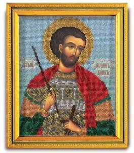 """Набор для вышивания """"Икона Св. Иоанн Воин"""" Кроше В-323 (ювелирный бисер)"""