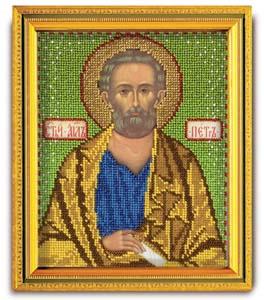 """""""Икона Св. Апостол Петр"""" Кроше В-332 (ювелирный бисер)"""