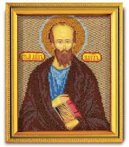 """""""Икона Св. Апостол Павел"""" Кроше В-333 (ювелирный бисер)"""