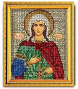 """Набор для вышивания """"Икона Св. Фотина (Светлана)"""" Кроше В-338 (ювелирный бисер)"""