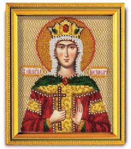 """Набор для вышивания """"Икона Св. Царица Александра"""" Кроше В-340 (ювелирный бисер)"""