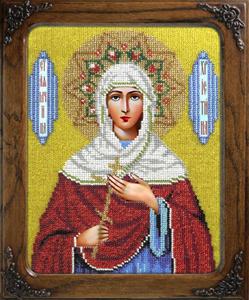 """Набор для вышивания """"Икона Святая Кристина"""" Вышиваем бисером L104 (бисер)"""