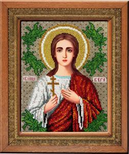 """Набор для вышивания """"Икона Святая Вера"""" Вышиваем бисером L107 (бисер)"""