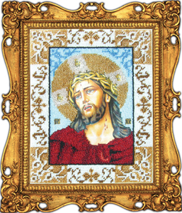 """Набор для вышивания """"Икона Иисус в терновом венке"""" Вышиваем бисером L10 (бисер)"""