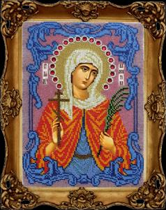 """Набор для вышивания """"Икона Святая мученица Валентина"""" Вышиваем бисером L115 (бисер)"""