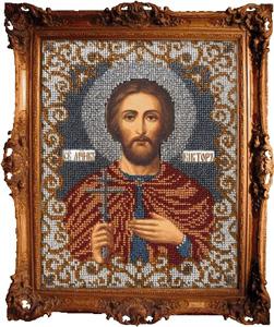 """Набор для вышивания """"Икона Святой Виктор"""" Вышиваем бисером L37 (бисер)"""