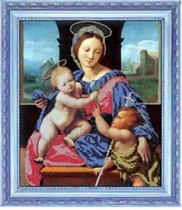"""Набор для вышивания """"Мадонна с младенцами"""" Вышиваем бисером L43 (бисер)"""