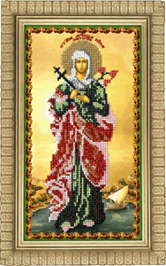 """Набор для вышивания """"Икона Святая Виктория"""" Вышиваем бисером L51 (бисер)"""