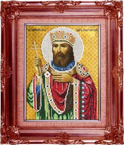 """Набор для вышивания """"Икона Святой царь Константин"""" Вышиваем бисером L53 (бисер)"""