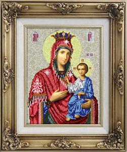 """Набор для вышивания """"Икона Иверская Божья Матерь"""" Вышиваем бисером L55 (бисер)"""