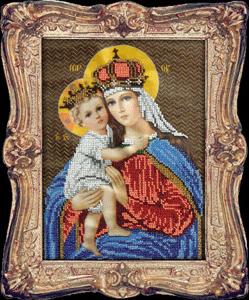 """Набор для вышивания """"Мария с младенцем"""" Вышиваем бисером L65 (бисер)"""