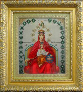 """Набор для вышивания """"Икона Державная Божия Матерь"""" Вышиваем бисером L67 (бисер)"""