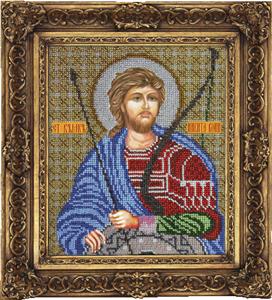 """Набор для вышивания """"Икона Святой Никита Воин"""" Вышиваем бисером L71 (бисер)"""