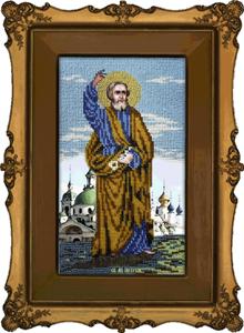 """Набор для вышивания """"Икона Святой Апостол Петр"""" Вышиваем бисером L72 (бисер)"""