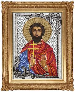 """Набор для вышивания """"Икона Святой Евгений"""" Вышиваем бисером L99 (бисер)"""