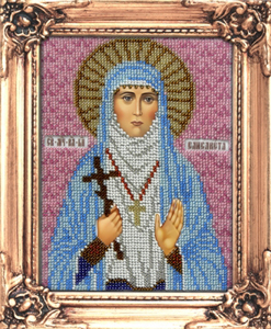 """Набор для вышивания """"Икона Святая Елизавета"""" Вышиваем бисером М17 (бисер)"""