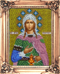 """Набор для вышивания """"Икона Святая Светлана"""" Вышиваем бисером М20 (бисер)"""