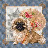 """Канва с нанесенным рисунком """"Пекинес в Пекине"""" МП 1694"""