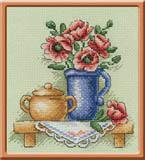 """Набор для вышивания """"Цветы в кувшине"""" Панна Н-0513 (крестик)"""