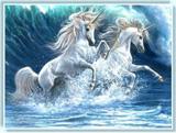 """Набор для вышивания """"Океанские Единороги"""" Kustom Krafts NNT-093 (частичная вышивка)"""