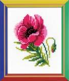 """""""Розовый мак"""" Риолис НВ-134 (крестик)"""