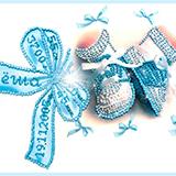 """Набор для вышивания хрустальными бусинами """"Метрика для мальчика с алфавитом"""" Образа в каменьях 5508"""