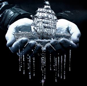 """Набор для вышивания хрустальными бусинами """"Паруса надежды """" Образа в каменьях 5501"""