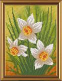 "Рисунок на ткани ""Нарциссы"" Nova Sloboda БИС 4069 (бисер)"