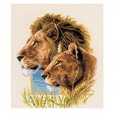 """Набор для вышивания """"Пара львов"""" Vervaco PN-0143773 (крестик)"""