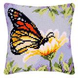 """Подушка """"Бабочка на цветке"""" Vervaco PN-0145882 (крестик)"""