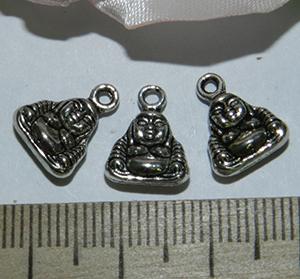 Подвеска металлическая серебристая Будда 10х12мм